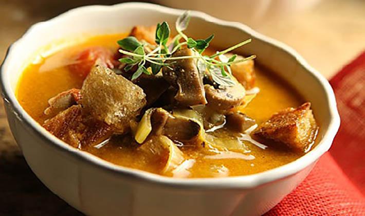 рецепт грибного супа из белых грибов поваренок