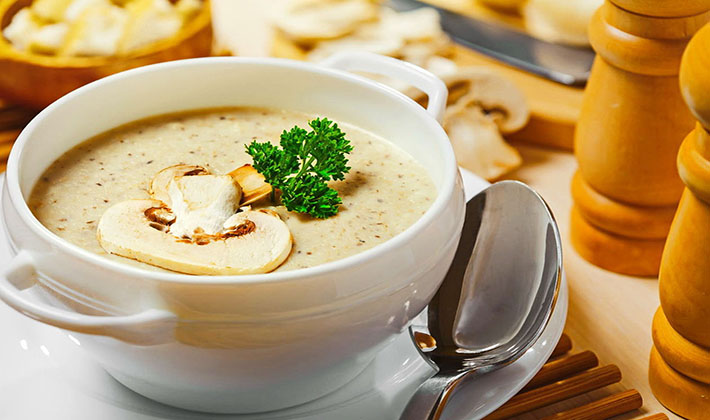суп с плавленным сыром и белыми грибами рецепт