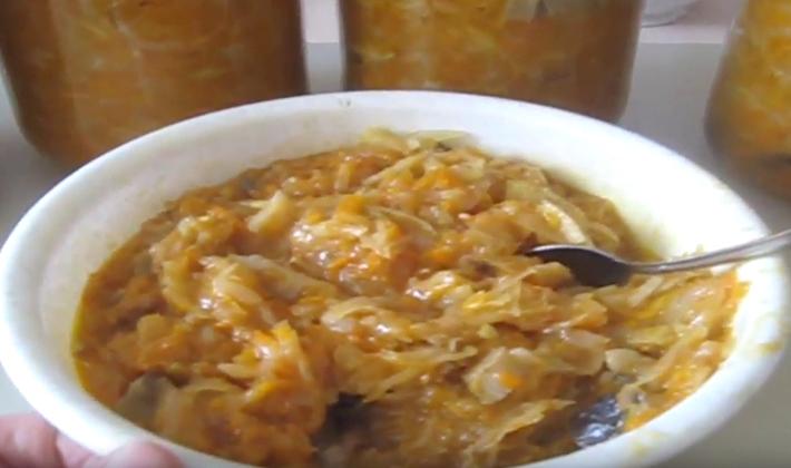 солянка из капусты с грибами рецепт в мультиварке