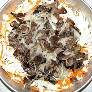 Солянка из свежих грибов с овощами