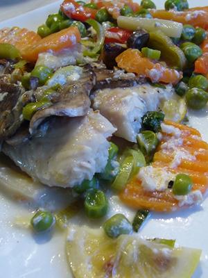 Блюда из рыбы и шампиньонов