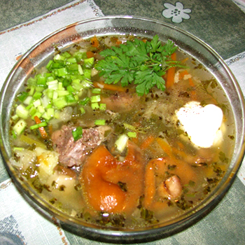 рецепт суп из рыжиков рецепт с фото