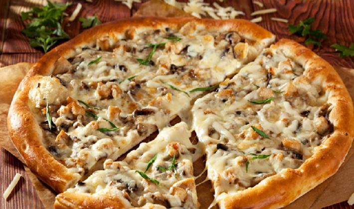 Рецепт пиццы с курой и грибами 1