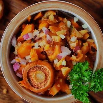 Блюда из отварных грибов