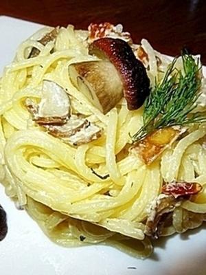 Паста с грибами в нежном сливочном соусе