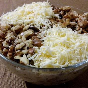 Грибные салаты с опятами и сыром