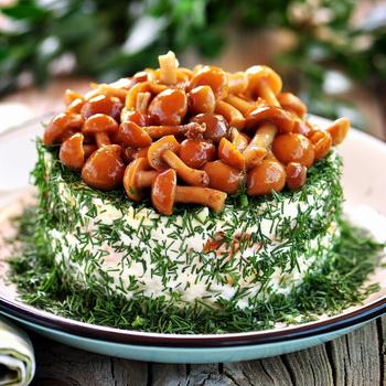 грибное лукошко салат рецепт с фото с опятами