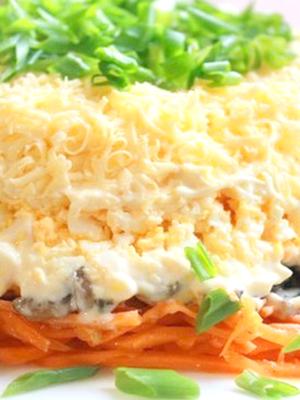 салат из свежих опят рецепт легкий