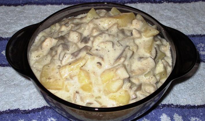 Рецепты приготовления картошки с опятами в мультиварке