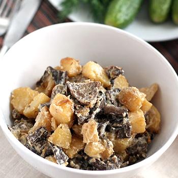 Опята с картошкой в сметане: рецепты блюд