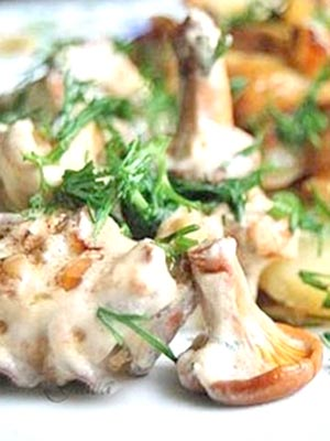Рецепты блюд из лисичек со сливками