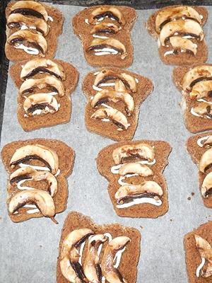 Быстрые бутерброды с шампиньонами