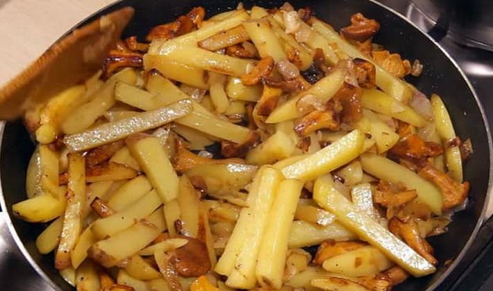 лисички с картофелем рецепты приготовления