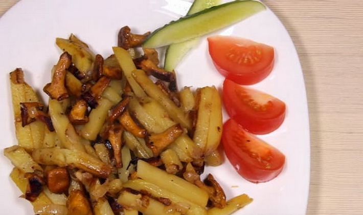 Картофель с лисичками: рецепты грибных блюд
