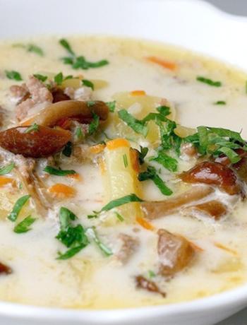 суп из лисичек сушеных рецепты с фото пошагово