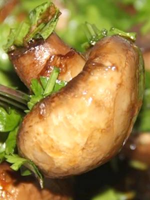 Шампиньоны в сливочном и растительном масле