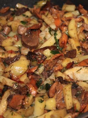 Картошка с грибами и сыром: рецепты для духовки, мультиварки, сковороды и фото блюд