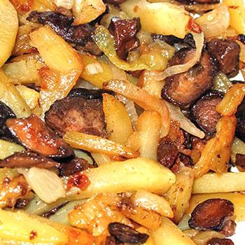 картошка с грибами жареная на сковороде пошаговый