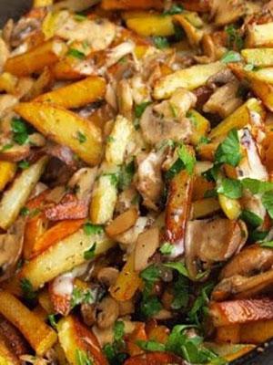 как пожарить картошку с грибами на сковороде пошаговый
