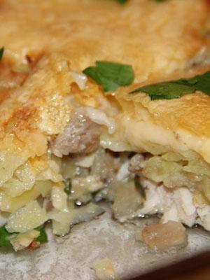 Картофель с курицей и грибами: варианты приготовления