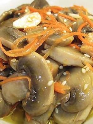 Пикантные шампиньоны, маринованные по-корейски