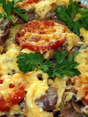 Картошка с шампиньонами в духовке: популярные рецепты