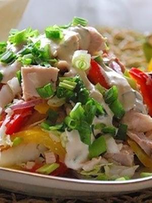 Приготовление куриных салатов с шампиньонами
