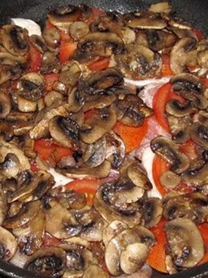Шампиньоны, приготовленные на сковороде