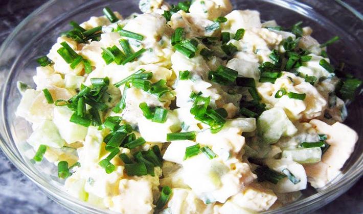 Грибные салаты с шампиньонами: простые рецепты