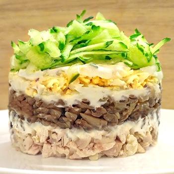 салаты слоёные рецепты с фото