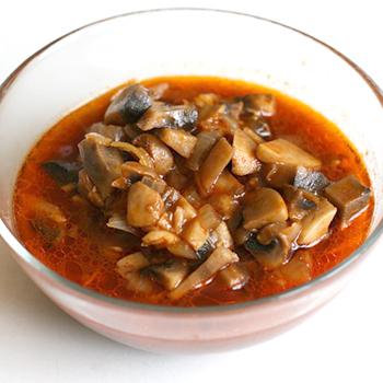 Рецепты блюд из грибов в томатном соусе
