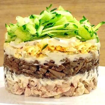 Рецепт приготовления салата с курицей и с черносливом