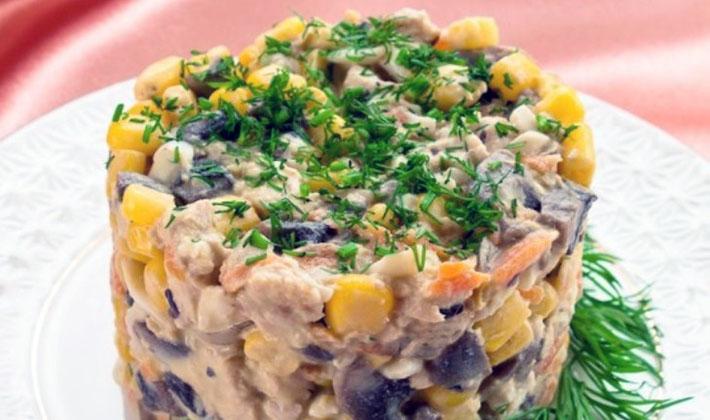Салаты с грибами: лучшие рецепты